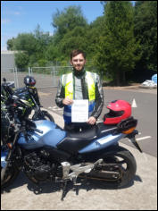 Mod2 pass - Peter from Chard again, upgraded his A2 licence to full DAS.
