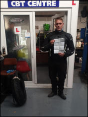 Scott passed Mod1 and Mod2 in the same day upgrading his A2 licence to full DAS