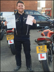 Luke from North Petherton upgraded from A2 to full DAS both tests on the same day
