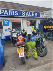 Simon from Bridgwater Mod2 pass CBT to full licence in 3 weeks