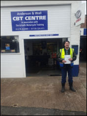 Aaron Mod2 pass upgrading from his A2 licence